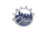 Toledo, Ohio - Skyline Seal (Blue) Posters by  Lantern Press