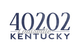 Louisville, Kentucky - 40202 Zip Code (Blue) Poster by  Lantern Press