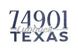 Lubbock, Texas - 74901 Zip Code (Blue) Posters by  Lantern Press