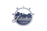 Boise, Idaho - Skyline Seal (Blue) Poster by  Lantern Press