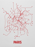 Paris Screen Print Light Gray Sérigraphie par  LinePosters