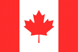 Canada Country Flag - Letterpress Prints by  Lantern Press