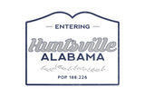 Huntsville, Alabama - Now Entering (Blue) Posters by  Lantern Press