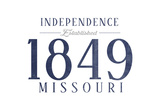 Independence, Missouri - Established Date (Blue) Print by  Lantern Press