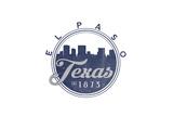 El Paso, Texas - Skyline Seal (Blue) Prints by  Lantern Press