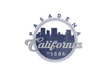 Pasadena, California - Skyline Seal (Blue) Prints by  Lantern Press