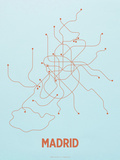 Madrid Screen Print Light Blue Serigraph by  LinePosters