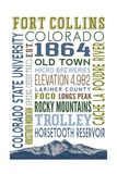 Fort Collins, Colorado - Typography Print by  Lantern Press