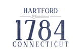 Hartford, Connecticut - Established Date (Blue) Poster by  Lantern Press