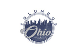 Columbus, Ohio - Skyline Seal (Blue) Prints by  Lantern Press