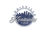Louisville, Kentucky - Skyline Seal (Blue) Print by  Lantern Press