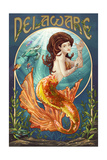 Delaware - Mermaid Prints by  Lantern Press