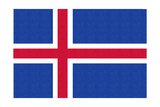 Iceland Country Flag - Letterpress Prints by  Lantern Press