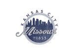 Kansas City, Missouri - Skyline Seal (Blue) Prints by  Lantern Press