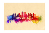 New Orleans, Louisiana - Skyline Abstract Posters by  Lantern Press