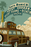Santa Monica, California - Route 66 - Pier Scene Prints by  Lantern Press