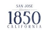 San Jose, California - Established Date (Blue) Posters by  Lantern Press