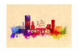 Portland, Oregon - Skyline Abstract Posters by  Lantern Press