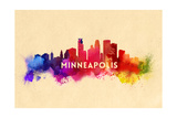 Minneapolis, Minnesota - Skyline Abstract Posters by  Lantern Press