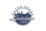 Baton Rouge, Louisiana - Skyline Seal (Blue) Prints by  Lantern Press