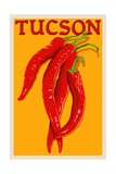 Tucson, Arizona - Red Chili - Letterpress Prints by  Lantern Press