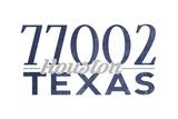 Houston, Texas - 77002 Zip Code (Blue) Prints by  Lantern Press