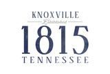 Knoxville, Tennessee - Established Date (Blue) Posters by  Lantern Press