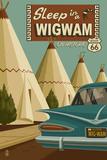 Holbrook, Arizona - Route 66 - Wigwam Village Motel Posters af Lantern Press