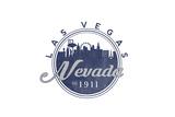 Las Vegas, Nevada - Skyline Seal (Blue) Print by  Lantern Press