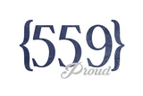 Fresno, California - 559 Area Code (Blue) Posters by  Lantern Press