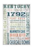 Kentucky - Barnwood Typography Posters by  Lantern Press