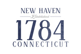 New Haven, Connecticut - Established Date (Blue) Posters by  Lantern Press