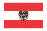 Austria Country Flag - Letterpress Art by  Lantern Press