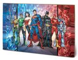 DC Comics - Justice League United Dřevěná cedule
