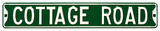 Cottage Road Steel Street Sign Wall Sign