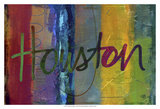 Abstract Houston Prints by Sisa Jasper