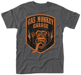 Gas Monkey- Distressed Shield Shirts