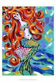 Ocean Friends IV Art by Carolee Vitaletti