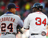Miguel Cabrera & David Ortiz 2008 Action Photo