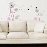 Small Pink Dandelion Muursticker