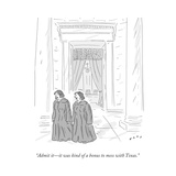 """Admit it—it was kind of a bonus to mess with Texas."" - Cartoon Regular Giclee Print by Kim Warp"