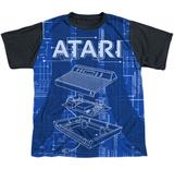 Youth: Atari- Game Machine Black Back Shirt