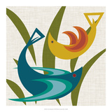 Avian Abstraction I Posters by Sharon Chandler