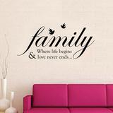 Family Quote Kalkomania ścienna