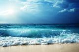 Waves at Seychelles Beach Photographic Print by Iakov Kalinin
