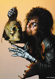 Alice Cooper- With Skull 1987 Prints
