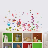 Colourful Flowers Butterflies Wall Decal