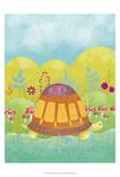 Happy Turtle I Posters van Chariklia Zarris