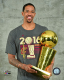 Channing Frye with the NBA Championship Trophy Game 7 of the 2016 NBA Finals Photo