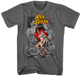 Red Sonja- Battling Evil Shirt